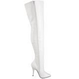 Blanco Charol 13 cm SEDUCE-3010 over knee botas altas con tacón