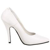 Blanco Charol 13 cm SEDUCE-420 Zapatos de Salón para Hombres