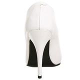 Blanco Charol 13 cm SEDUCE-420 zapatos de salón puntiagudos