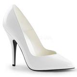 Blanco Charol 13 cm SEDUCE-420V Zapatos de Salón para Hombres