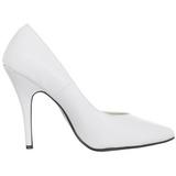 Blanco Charol 13 cm SEDUCE-420V zapatos de salón puntiagudos