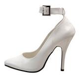 Blanco Charol 13 cm SEDUCE-431 zapatos de salón tacón bajo