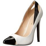 Blanco Charol 13 cm SEXY-22 Zapato Salón Clasico para Mujer