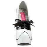 Blanco Charol 14,5 cm Burlesque BORDELLO TEEZE-01 Plataforma Zapatos de Salón