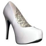 Blanco Charol 14,5 cm Burlesque TEEZE-06W zapatos de salón pies anchos hombre