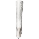 Blanco Charol 15,5 cm DELIGHT-2023 Plataforma Botas Media