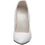 Blanco Charol 15 cm DOMINA-420 zapatos puntiagudos con tacón de aguja