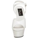 Blanco Charol 15 cm KISS-209 Zapatos Tacón Aguja Plataforma
