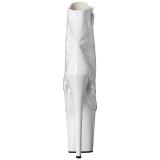 Blanco Charol 20 cm FLAMINGO-1021 botines con suela plataforma mujer