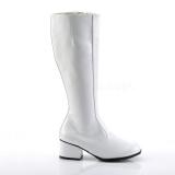 Blanco Charol 5 cm GOGO Botas de mujer para Hombres