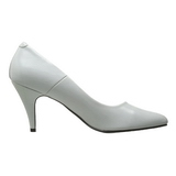Blanco Charol 7,5 cm PUMP-420 Zapato Salón Clasico para Mujer