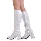 Blanco Charol 8,5 cm GOGO-300 Botas de mujer para Hombres