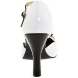 Blanco Gamuza 10 cm SMITTEN-10 Calzado de Salón Planos Tacón