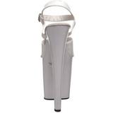 Blanco Lacado 20 cm Pleaser XTREME-809 Tacones Altos Plataforma