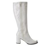 Blanco Lacado 7,5 cm Funtasma GOGO-303 Botas Media Mujer