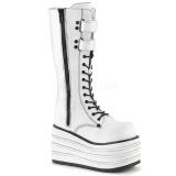 Blanco Lona 10 cm MORI-310 botas demonia plataforma