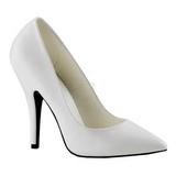 Blanco Mate 13 cm SEDUCE-420 Calzado de Salón Planos Tacón
