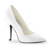 Blanco Mate 13 cm SEDUCE-420 Zapatos de Salón para Hombres