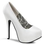 Blanco Mate 14,5 cm BORDELLO TEEZE-06 Plataforma Zapato de Salón