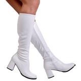 Blanco Mate 8,5 cm GOGO-300 Botas de mujer para Hombres