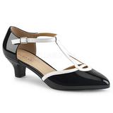 Blanco Negro 5 cm FAB-428 zapatos de salón tallas grandes