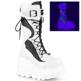 Blanco Neon 11,5 cm SHAKER-70 botas cyberpunk plataforma