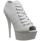 Blanco Neon 15 cm DELIGHT-600SK-01 Zapatos de lona con tacón