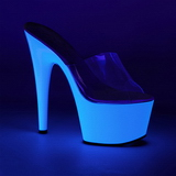 Blanco Neon 18 cm ADORE-701UV Plataforma Mules Calzado