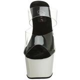 Blanco Neon 18 cm ADORE-702UV Plataforma Mules Calzado