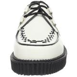 Blanco Piel 2,5 cm CREEPER-602 Zapatos de Creepers Hombres Plataforma