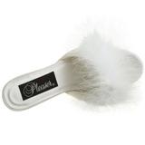Blanco Plumas 8 cm AMOUR-03 Zuecos de mujer para Hombres