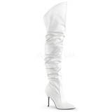 Blanco Polipiel 10 cm CLASSIQUE-3011 over knee botas altas con tacón