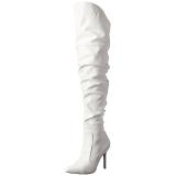 Blanco Polipiel 10 cm CLASSIQUE-3011 over knee botas altas con tacón