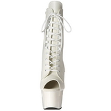 Blanco Polipiel 18 cm ADORE-1021 botines con suela plataforma mujer