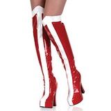 Blanco Rojo 13 cm ELECTRA-2090 Botas Altas Plataforma