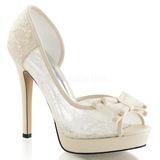 Blanco Satinado 12 cm LUMINA-33 Zapato Salón de Noche con Tacon