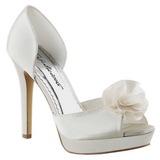Blanco Satinado 12 cm LUMINA-34 Zapato Salón de Noche con Tacón