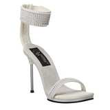 Blanco Strass 12 cm CHIC-40 Zapatos Stilettos Tac�n de Aguja