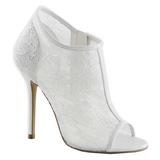 Blanco Tejido 13 cm AMUSE-56 Zapato Salón de Noche con Tacón