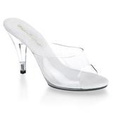 Blanco Transparente 11 cm CARESS-401 Mulas Tacones Altos Mujer