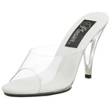 Blanco Transparente 11 cm CARESS-401 Mulas Tacones Altos Mujer
