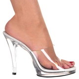 Blanco Transparente 12 cm FLAIR-401 Mulas Tacones Altos Mujer