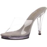 Blanco Transparente 12 cm FLAIR-401 Mulas Tacones Altos Mujer