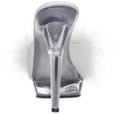 Blanco Transparente 13 cm LIP-101-8 Plateau Mulas Tacones Altos Mujer
