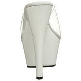 Blanco Transparente 15 cm KISS-201 Plataforma Mules Altos