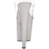 Blanco Transparente 20 cm XTREME-802 Plateau Mulas Tacones Altos Mujer