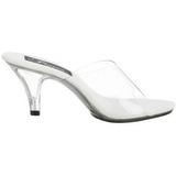 Blanco Transparente 8 cm BELLE-301 Zuecos de mujer para Hombres