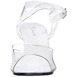 Blanco Transparente 8 cm Pleaser BELLE-308 Tacones de Aguja