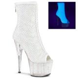 Blanco Vegano 18 cm ADORE-1031GM botines de tobillo punta abierta