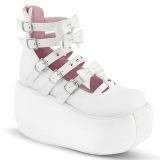 Blanco Vegano 9 cm DEMONIA VIOLET-45 zapatos de salón mary jane plataforma